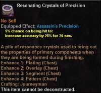 Resonating crystals precision