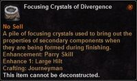 Focusing crystal divergence