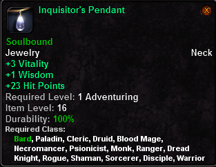 Inquisitor's Pendant