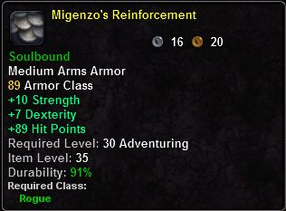 Migenzo's Reinforcement