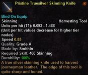 Pristine truesilver skinning knife