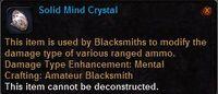Solid mind crystal