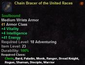 Chain bracer of the united races