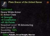 Plate bracer of the united races