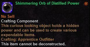 Shimmering Orb of Distilled Power