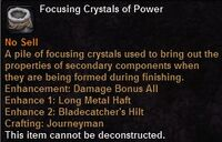 Focusing crystal power