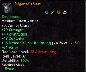 Migenzo's Vest