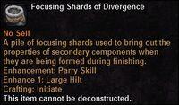 Focusing shard divergence