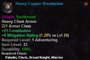 Heavy Copper Breastplate