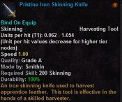 Pristine iron skinning knife
