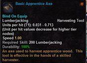 Basic apprentice axe