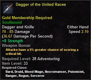Dagger of the United Races