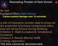 Resonating powder dark venom