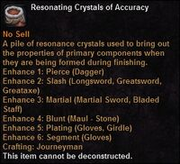 Resonating crystals accuracy