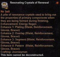 Resonating crystals renewal