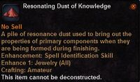 Resonating dust knowledge