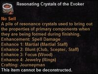 Resonating crystals evoker