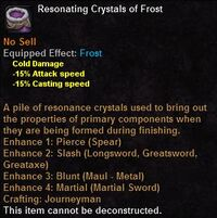 Resonating crystals frost