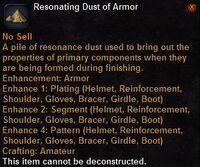 Resonating dust armor