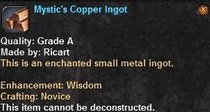 6 Mystic's Copper Ingot