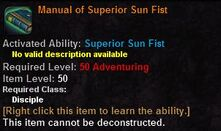 Manual of superior sun fist