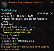 Harvest stonemason hammer