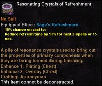 Resonating crystals refreshment