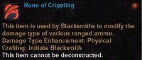 Rune of crippling