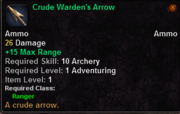 Crude Warden's Arrow