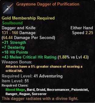 Graystone Dagger of Purification