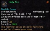 Rusty axe