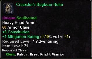 Crusader's Bugbear Helm