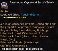 Resonating crystals earthstouch