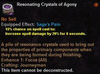 Resonating crystals agony