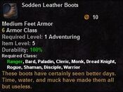Sodden leather boots