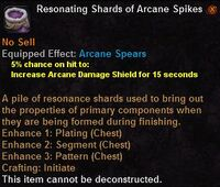 Resonating shards arcane spikes