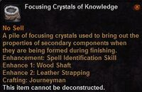Focusing crystal knowledge