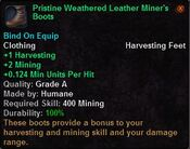 Pristine weathered leather miner's boots