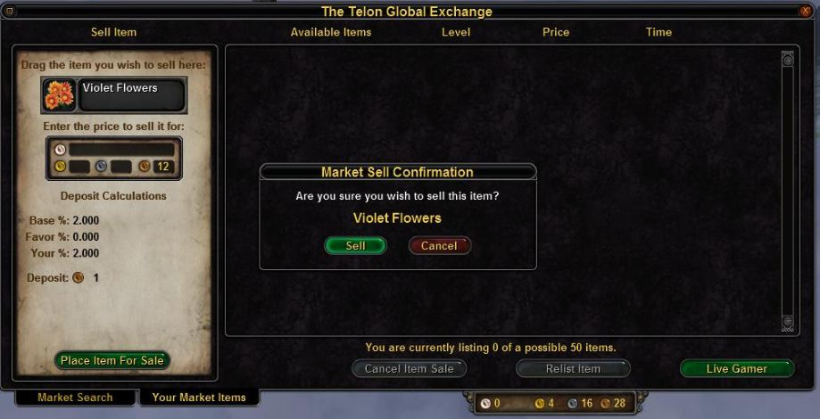Telon exchange your market items selling