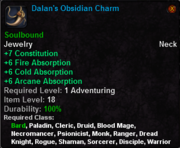 Dalan's Obsidian Charm