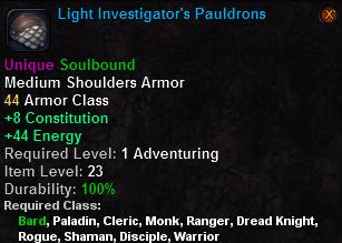 Light Investigator's Pauldrons