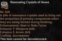 Resonating crystals hexes