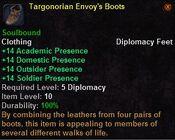 Targonorian envoy's boots