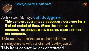 Bodyguard contract