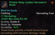 Pristine ratty leather harvester's boots