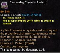 Resonating crystals winds