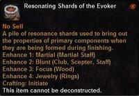 Resonating shards the evoker