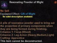 Resonating powder might