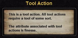 Hint tool action