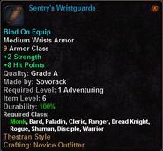 Sentry's Wristguards